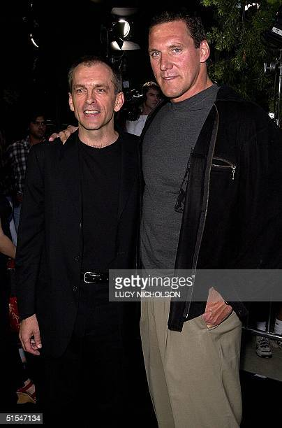 Actors Tomas Arana and Ralf Moeller arrive at the premiere of their new film The Gladiator in Beverly Hills CA 01 May 2000 The film also stars...