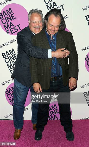 "Actors Tommy Nohilly and Larry Fessenden attend the BAMcinemaFest 2016 - ""In A Valley Of Violence"" premiere at BAM Harvey Theater on June 18, 2016 in..."