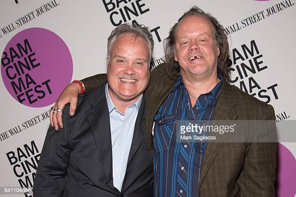 "Actors Tommy Nohilly and Larry Fessenden attends the BAMcinemaFest 2016 ""In A Valley Of Violence"" premiere at BAM Harvey Theater on June 18, 2016 in..."