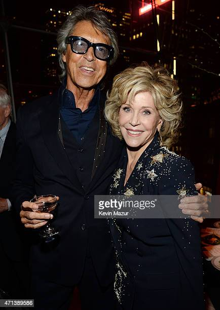Actors Tommy Tune and Jane Fonda attend the 42nd Chaplin Award Gala at Jazz at Lincoln Center on April 27 2015 in New York City