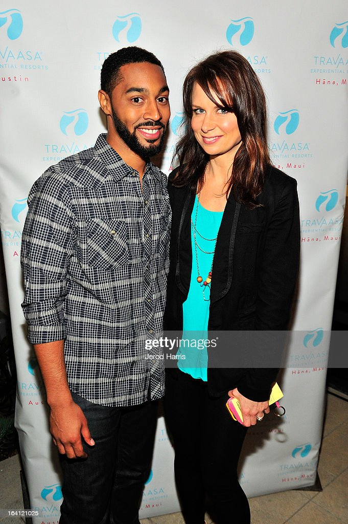 Actors Tone Bell and Mary Lynn Rajskub attend Travaasa Resorts official LA experience event at Kinara Spa on March 19, 2013 in Los Angeles, California.
