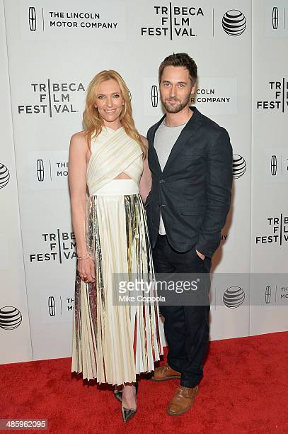 Actors Toni Collette and Ryan Eggold attend the 'Lucky Them' Premiere during the 2014 Tribeca Film Festival at BMCC Tribeca PAC on April 21 2014 in...