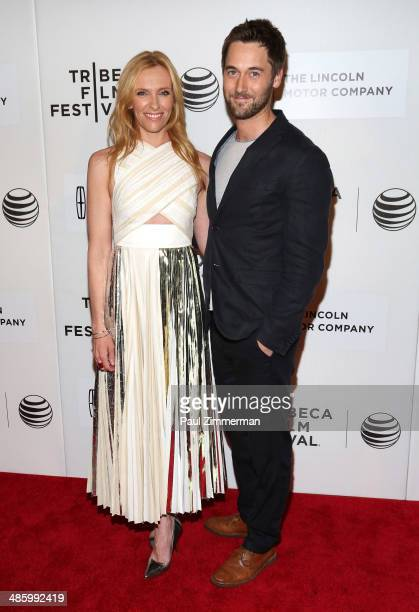 Actors Toni Collette and Ryan Eggold attend the screening of 'Lucky Them' during the 2014 Tribeca Film Festival at BMCC Tribeca PAC on April 21 2014...
