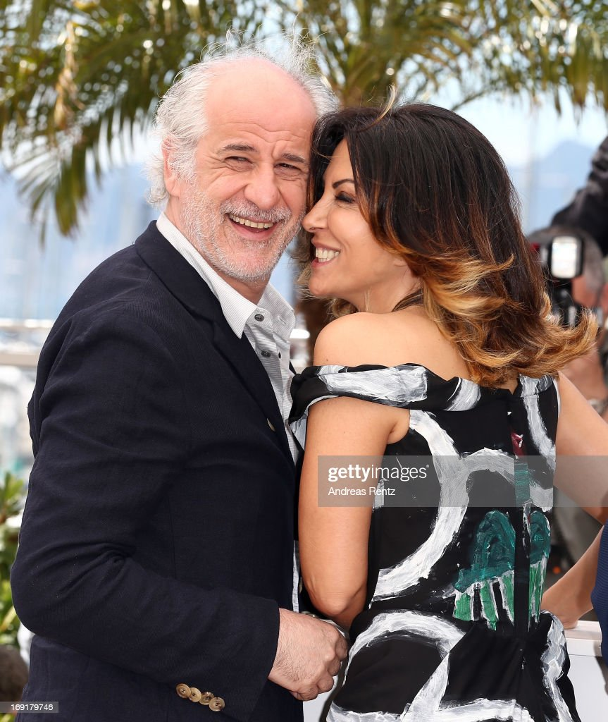 Actors Toni Servillo and Sabrina Ferilli attends the 'La Grande Bellezza' Photocall during The 66th Annual Cannes Film Festival at the Palais des Festivals on May 21, 2013 in Cannes, France.