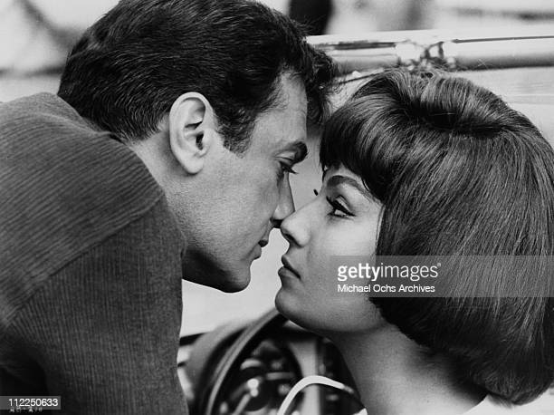 Actors Tony Curtis and Rosanna Schiaffino in a scene from the movie 'Arrivederci Baby' in 1966
