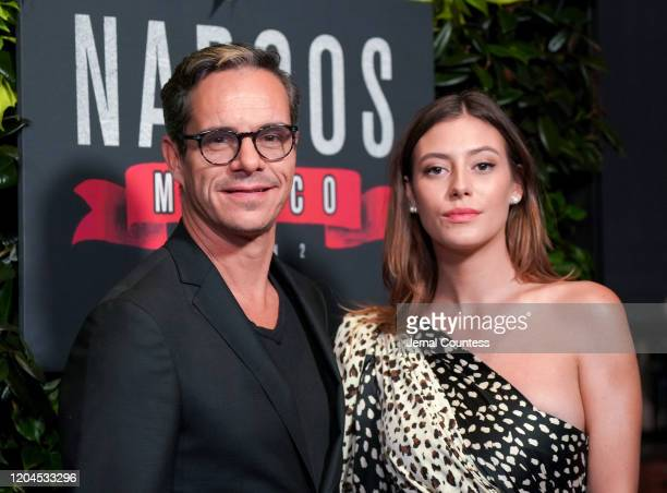 Actors Tony Dalton and Alejandra Guilmant attend the Narcos Mexico Season 2 premiere at Netflix Home Theater on February 06 2020 in Los Angeles...