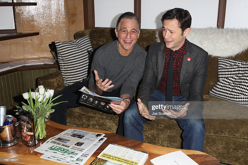 Actors Tony Danza and Joseph Gordon-Levitt attend Day 1 of the Variety Studio at 2013 Sundance Film Festival on January 19, 2013 in Park City, Utah.