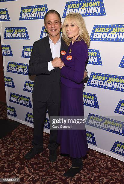 Actors Tony Danza and Judith Light attend 2015 Kids' Night On Broadway Press Conferenceat Sardi's on November 4 2014 in New York City