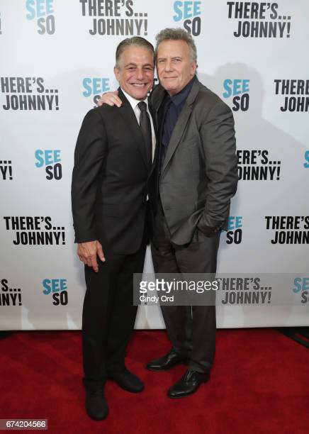 Actors Tony Danza and Paul Reiser attend Seeso's There'sJohnny Tribeca Film Festival Premiere AfterParty at The Friars Club on April 27 2017 in New...
