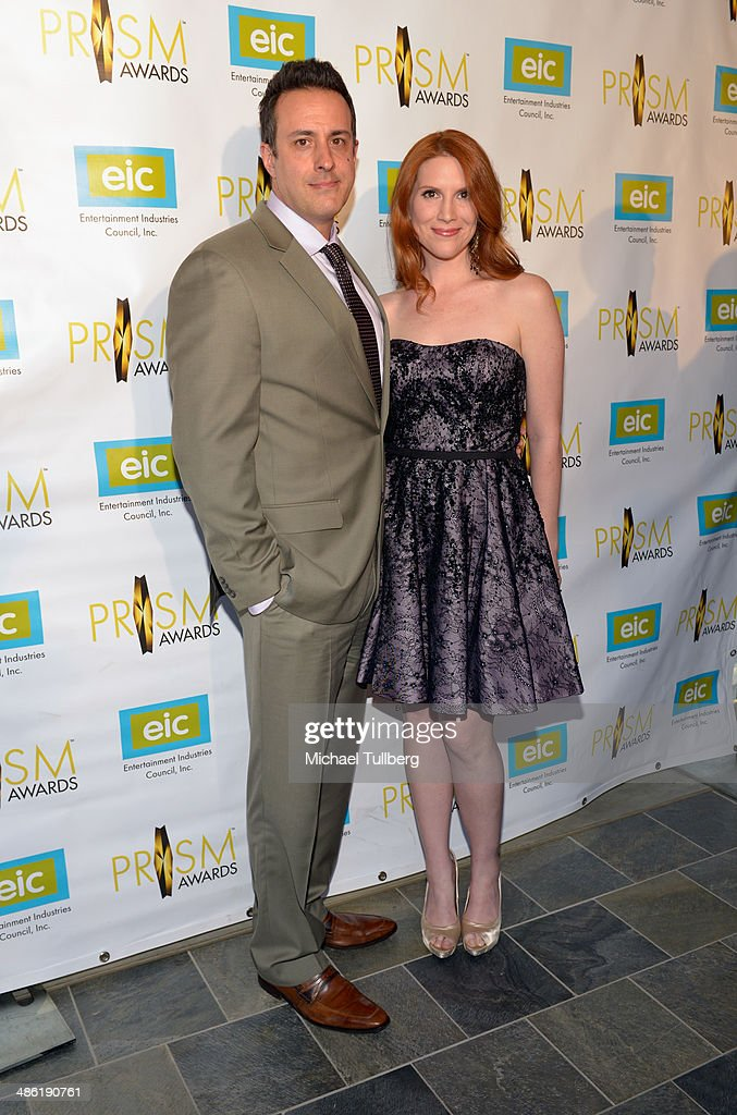 Actors Tony Glazer and Summer Crockett-Moore attend the 18th Annual PRISM Awards Ceremony at Skirball Cultural Center on April 22, 2014 in Los Angeles, California.