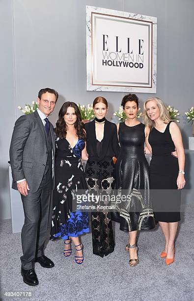 Actors Tony Goldwyn Katie Lowes Darby Stanchfield and Bellamy Young and producer Betsy Beers attend the 22nd Annual ELLE Women in Hollywood Awards...