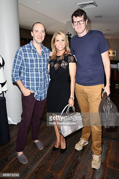 Actors Tony Hale Cheryl Hines and Timothy Simons attend Kari Feinstein's Style Lounge presented by Paragon at Andaz West Hollywood on August 22 2014...