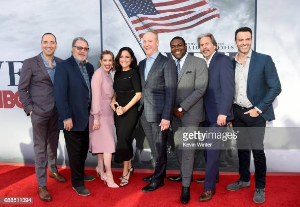 Actors Tony Hale Kevin Dunn Anna Chlumsky Julia LouisDreyfus Matt Walsh Sam Richardson Gary Cole and Reid Scott arrive at HBO's 'Veep' FYC Event at...