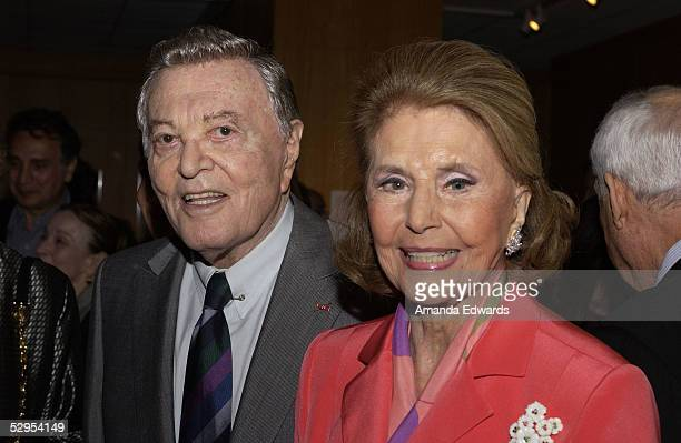 Actors Tony Martin and Cyd Charisse arrive at the AMPAS Centennial Tribute to composer Harold Arlen at the Academy of Motion Picture Arts and...