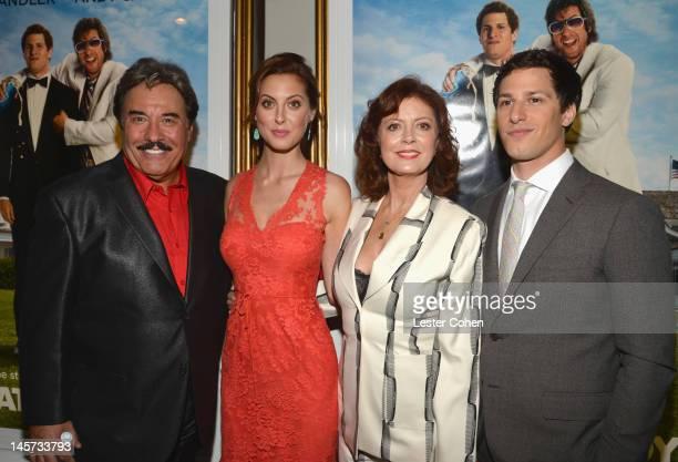 Actors Tony Orlando Eva Amurri Martino Susan Sarandon and Andy Samberg arrive at the Los Angeles premiere of That's My Boy held at Regency Village...