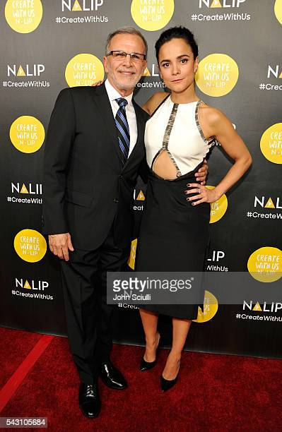Actors Tony Plana and Alice Braga attend the NALIP 2016 Latino Media Awards at Dolby Theatre on June 25 2016 in Hollywood California