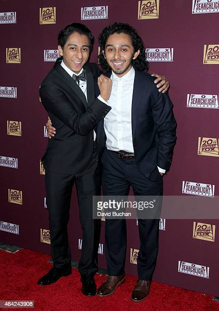 Actors Tony Revolori and Mario Revolori attends the 21st Century Fox and Fox Searchlight Oscar Party at BOA Steakhouse on February 22 2015 in West...