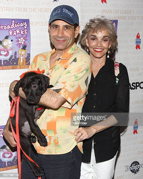 Actors Tony Shalhoub and Brooke Adams attends the 12th annual Broadway Barks in Shubert Alley on July 10 2010 in New York City