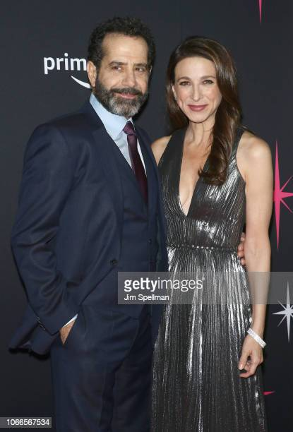 Actors Tony Shalhoub and Marin Hinkle attend the The Marvelous Mrs Maisel New York premiere at The Paris Theatre on November 29 2018 in New York City