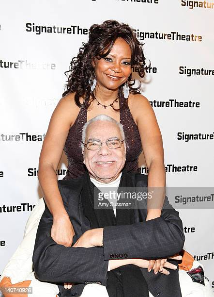 "Actors Tonya Pinkins and Earle Hyman attend the ""Edward Albee's The Lady From Dubuque"" opening night at the End Stage Theater at the Pershing Square..."