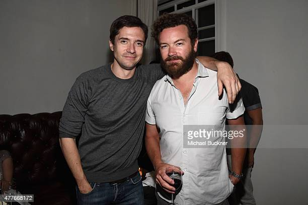 Actors Topher Grace and Danny Masterson attend an introduction to HEAVEN 2016 presented by The Art of Elysium and Samsung Galaxy on June 18 2015 in...