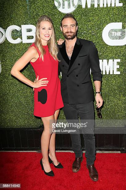 Actors Tori Anderson and Joshua Sasse arrive at the CBS CW Showtime Summer TCA Party at the Pacific Design Center on August 10 2016 in West Hollywood...