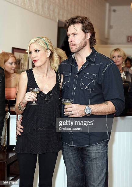 "Actors Tori Spelling and Dean McDermott attend the taping of TV Land docu-soap ""Harry Loves Lisa"" at Belle Gray Boutique's 7th Anniversary at Belle..."