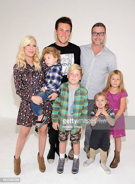 Actors Tori Spelling and Dean McDermott with their children attend the Elizabeth Glaser Pediatric AIDS Foundation's 26th Annual A Time For Heroes...