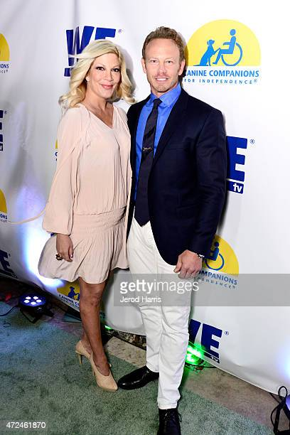 Actors Tori Spelling and Ian Ziering attend an event hosted by WE tv and Ian Ziering to raise awareness for Canine Companions for Independence at...
