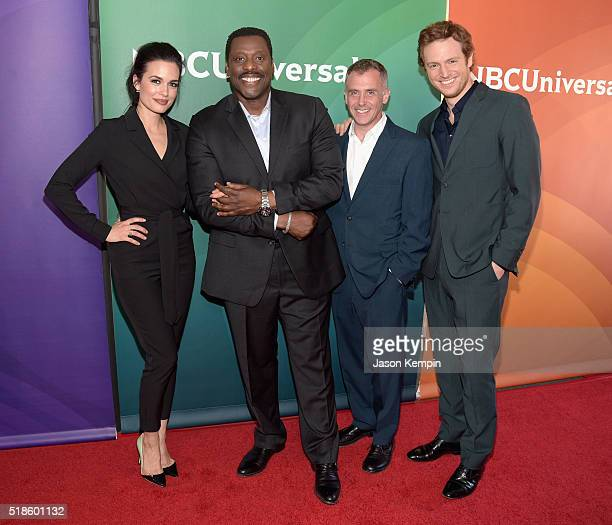 Actors Torrey DeVitto Eamonn Walker David Eigenberg and Nick Gehlfuss attend the 2016 NBCUniversal Summer Press Day at Four Seasons Hotel Westlake...