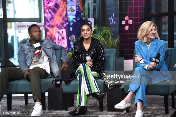 "Actors Tosin Cole, Mandip Gill and Jodie Whittaker visit the Build Series to discuss Season 12 of the BBC America series ""Doctor Who"" at Build Studio..."