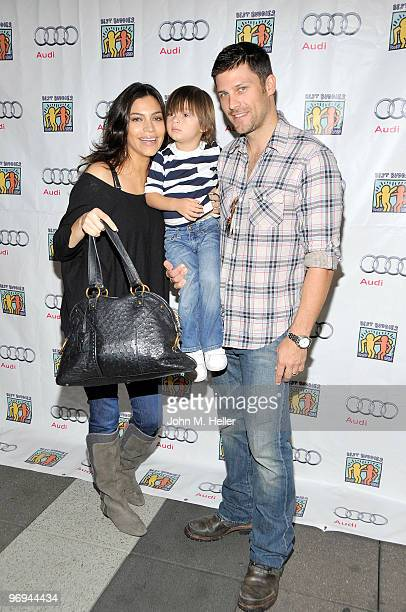Actors Touriya Haoud and Greg Vaughan attends the Best Buddies International's Bowling For Buddies Benefit presented by Audi at Lucky Strike Lanes at...
