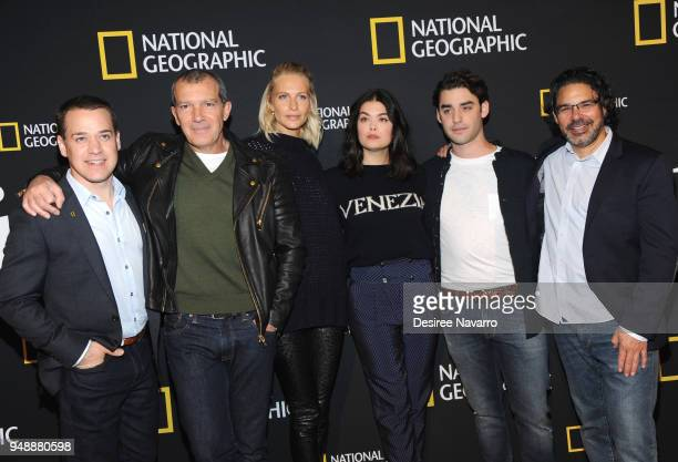 Actors TR Knight Antonio Banderas Poppy Delevingne Samantha Colley Alex Rich and executive producer/director Ken Biller attend National Geographic...