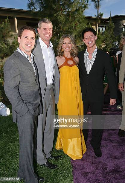 Actors TR Knight Eric Dane Rebecca Gayheart and Mark Cornelsen arrive at the 7th Annual Chrysalis Butterfly Ball held at a private residence on May...