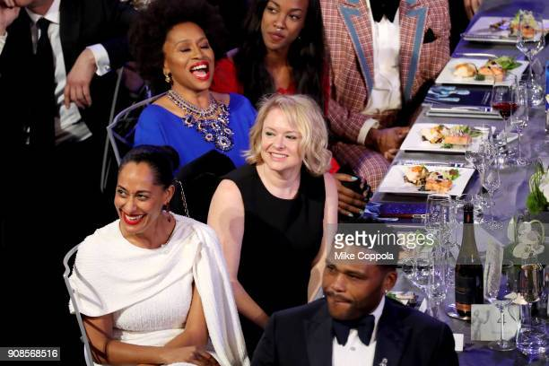 Actors Tracee Ellis Ross and Anthony Anderson during the 24th Annual Screen Actors Guild Awards at The Shrine Auditorium on January 21 2018 in Los...