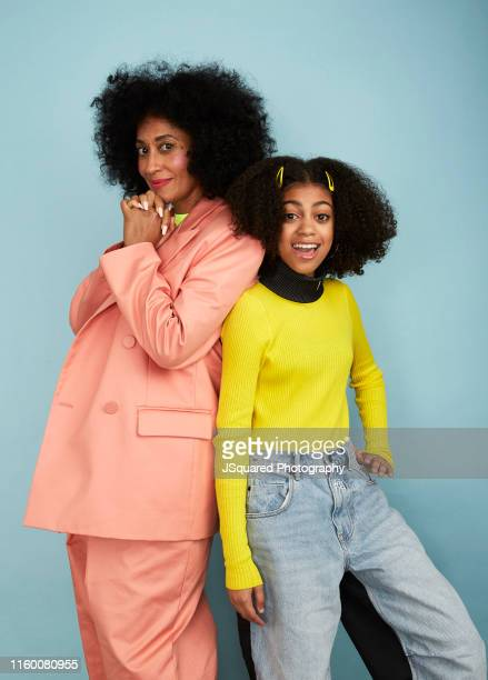 Actors Tracee Ellis Ross and Arica Himmel of ABC's 'Mixedish' pose for a portrait during the 2019 Summer TCA Portrait Studio at The Beverly Hilton...