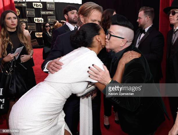 Actors Tracee Ellis Ross William H Macy and Lea DeLaria attend the 24th Annual Screen ActorsGuild Awards at The Shrine Auditorium on January 21 2018...
