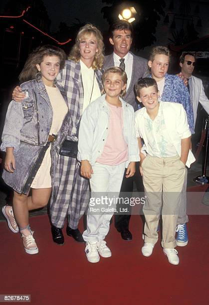 Actors Tracey Gold Jeremy Miller Joanna Kerns and Alan Thicke and his sons Brennan Thicke and Robin Thicke attend the Like Father Like Son Hollywood...