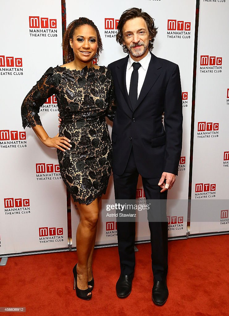 Actors Tracie Thoms and John Hawkes attend 'Lost Lake' opening night after party at Brasserie 8 1/2 on November 11, 2014 in New York City.