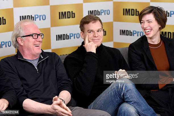 Actors Tracy Letts Michael C Hall and Rebecca Hall in The IMDb Studio In Park City Utah Day Two on January 23 2016 in Park City Utah