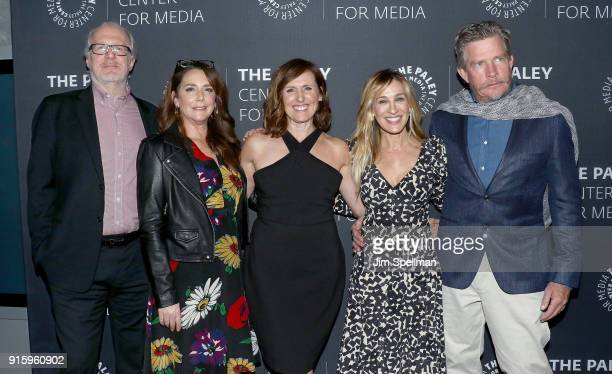 Actors Tracy Letts Talia Balsam Molly Shannon Sarah Jessica Parker and Thomas Haden Church attend an evening with the cast of 'Divorce' at The Paley...