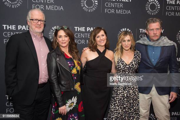 Actors Tracy Letts Talia Balsam Molly Shannon Sarah Jessica Parker and Thomas Haden Church attend An Evening With The Cast Of Divorce at The Paley...