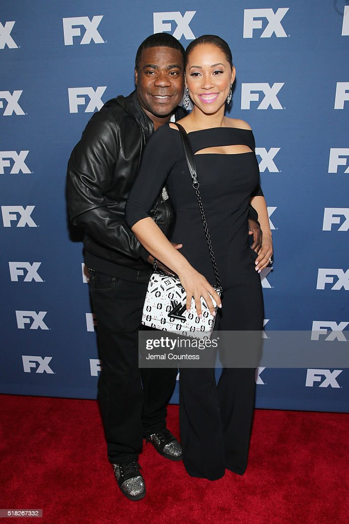 Actors Tracy Morgan and Megan Morgan attend the FX Networks Upfront screening of 'The People v. O.J. Simpson: American Crime Story' at AMC Empire 25 theater on March 30, 2016 in New York City.