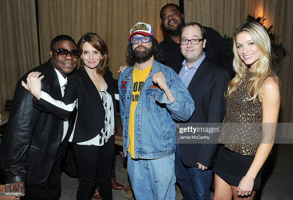 Actors Tracy Morgan, Tina Fey, Judah Friedlander, Grizz Chapman, John Lutz, and Katrina Bowden attend Entertainment Weekly and NBC's celebration of the final season of 30 Rock sponsored by Garnier Nutrisse on October 3, 2012 in New York City.
