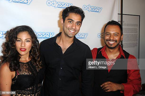Actors Tracy Perez Kapil Talwalkar and Carlos Moreno Jr arrive for the Reading Of 'The Blade Of Jealousy/La Celsa De Misma' held at The Odyssey...