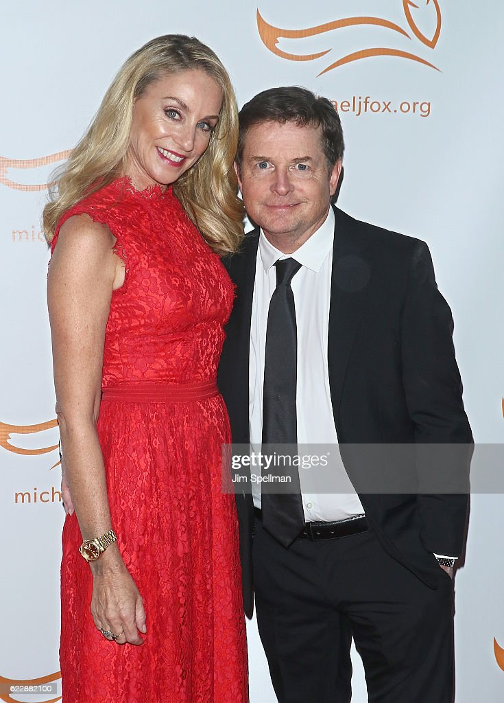 Actors Tracy Pollan and Michael J. Fox attend the 2016 A Funny Thing Happened On The Way To Cure Parkinson's at The Waldorf Astoria on November 12, 2016 in New York City.