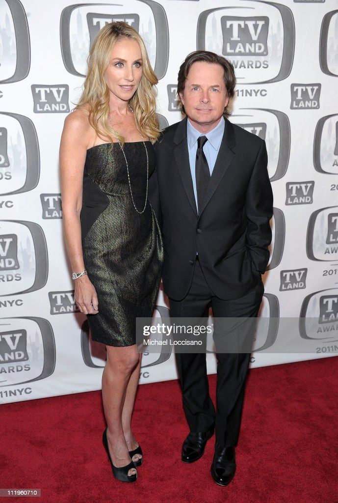 Actors Tracy Pollan and Michael J. Fox attend the 9th Annual TV Land Awards at the Javits Center on April 10, 2011 in New York City.