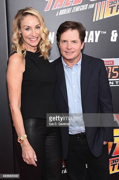 Actors Tracy Pollan and Michael J Fox attend the Back to the Future reunion with fans in celebration of the Back to the Future 30th Anniversary...