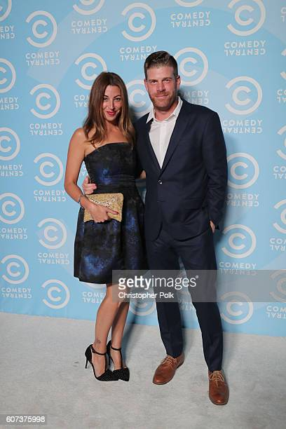 Actors Tracy Rannazzisi and Stephen Rannazzisi attend the Comedy Central PreEmmys Party at Boulevard3 on September 17 2016 in Hollywood California