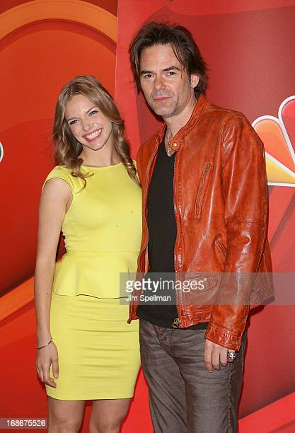 Actors Tracy Spiridakos and Billy Burke attends 2013 NBC Upfront Presentation Red Carpet Event at Radio City Music Hall on May 13 2013 in New York...
